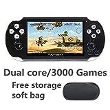 JXD dual core 4.3 pollici console videogiochi portatile console video game 16GB costruito ...
