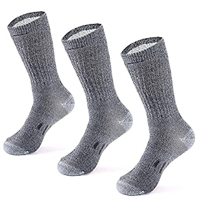 MERIWOOL Merino Wool Hiking Socks for Men and Women – 3 Pairs Midweight Cushioned – Warm n Breathable (X-Large, Gray)