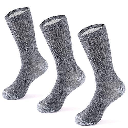 Merino Wool Hiking Socks for Men n Women - 3 Pairs