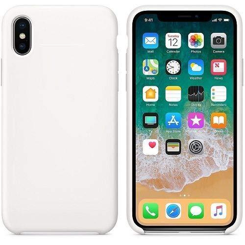 CABLEPELADO Funda Silicona iPhone X/XS extura Suave Color Blanco