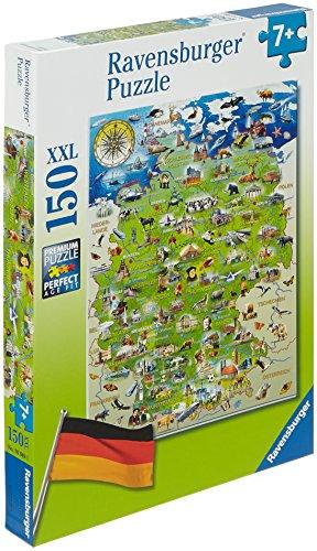Ravensburger Kinderpuzzle 10049 - Meine Deutschlandkarte - 150 Teile