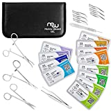 Mixed Suture Threads with Needle Plus Tools for Medical Student's Surgical Practice Kit; O...
