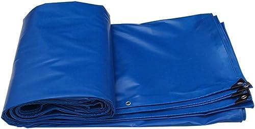 SJMYBB Bache Bleues baches Convient pour Les Voyages en Plein air Camping Piscine Couverture Pique-Nique véhicule Camping randonnée randonnée Pet Cargo Cover (Taille   6  4m)