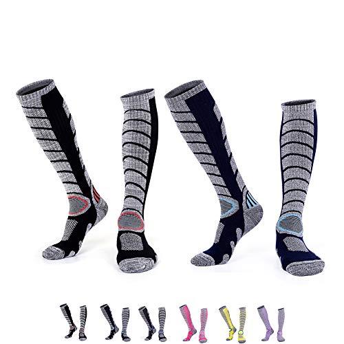 スポーツソックス アウトドア スキー スノーボード用 冬 靴下 通気吸汗 抗菌防臭 段階着圧設計 トレッキン...