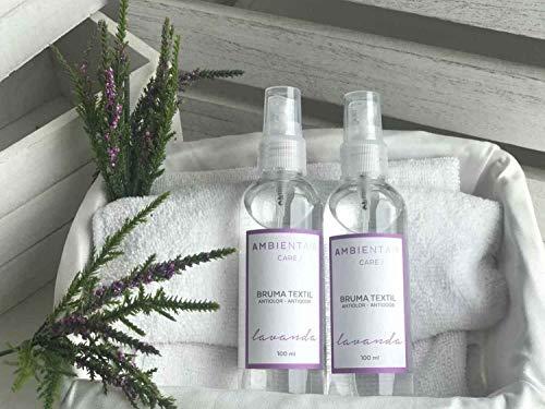 Ambientair. Spray para tejidos aroma lavanda. Spray sin alcohol para textiles y ropa. Elimina los malos olores de la ropa.