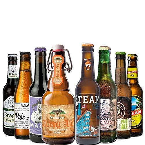 BierSelect Craft Beer Paket - 8 verschiedene Craft Beer Spezialitäten (8x0,33l) - super Geschenkidee für Craft Beer Fans zum Geburtstag, Weihnachten, Ostern oder zum Vatertag!