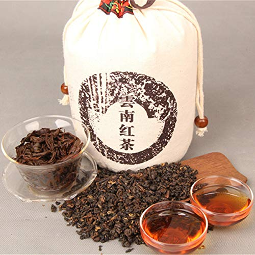 1000g (2.2LB) Rijpe Pu'er-thee Kunming Crested Vroege lente Honing Rijm Goud Vers Zwart Dianhong Puer-thee rijp Zwarte thee Gekookte Pu-erh-thee Pu erh-thee Chinese thee Gezonde Puerh-thee Rode thee Zwarte thee