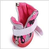 BXGZXYQ Zapatos De Perro, Malla Transpirable, Zapatos Deportivos, Moda, Patrón De Vaca, Correas De Personalidad, Perro Caminando, Zapatos (Color : Rose Red, Size : 3#)
