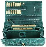 BELLI hochwertige Vintage Leder Damen Geldbörse Portemonnaie langes großes Portmonee Geldbeutel...