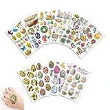 Pasqua temi coniglio uova Tatuaggi temporanei bambini Stickers tatuaggio (10 fogli)