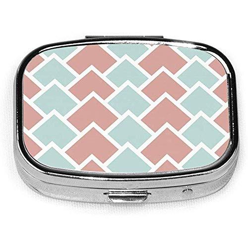 Hellgrüne und rosa Pillenbox CaseSquare Tablet Medizin Tasche Geldbörse Reisetablette VitaminBox Case Holder