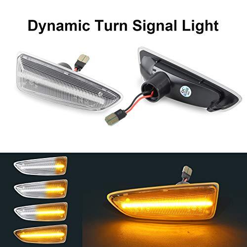 OZ-LAMPE Dynamische Blinkleuchte Seitenmarkierung Fließende Seitenmarkierungen Klar Für O-Pel Astra J Astra J K Zafira C Insignia B Grandland X