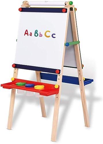 Kinder-Rei ett doppelseitige magnetische Rei ett Massivholz Staffelei anheben Halterungsart Doppelverkleidung Schwarzeißs-Tafel der Kinder abnehmbares Design ( Farbe   Wood , Größe   130655cm )