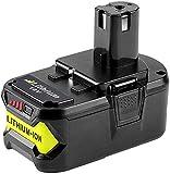 RB18L50 18V 5.0Ah Batterie de remplacement pour Ryobi ONE+ RB18L40 RB18L25 P108 P107 P122 P104 P105 P102 P103 avec indicateur LED
