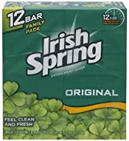 Irish Spring 入浴石鹸、オリジナル、3.75オズ。バー、12カウント