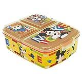 Stor Mickey Mouse - Disney | Brotdose mit 3 Fächern für Kinder - Kids Sandwich Box - Lunchbox - Brotbox BPA frei