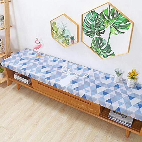 Traann tafelkleed van tafelzeil, rechthoekig, langwerpig, waterdicht, decoratie voor thuis, bruiloft, woonkamer, met tv-coating 40*160