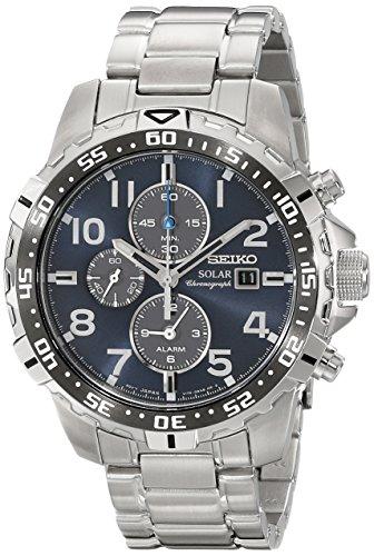 Seiko Men's SSC305 Solar-Power Stainless Steel Bracelet Watch