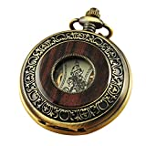 VIGOROSO Men's Hand-Wind Mechanical Pocket Watch Vintage Steampunk...
