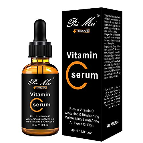 J TOHLO Vitamin C Serum for Face Anti Ageing Anti Wrinkle Serum with Hyaluronic Acid Serum Boost Skin Collagen Dark Circle Fine Line Sun Damage Corrector Facial Serum 30ML
