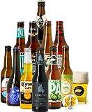 Assortiment de bières - Idée cadeau - Découverte de la bière - Dégustation (Coffret 11 bières du monde + 1 verre) - Fête des Pères