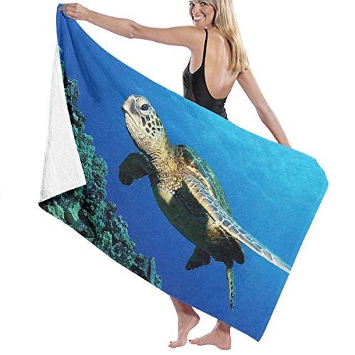 Toalla Shower Towels Beach Towels Tortuga marina Pez Marine Wildlife Océano Animal Toalla De Baño 80X130CM