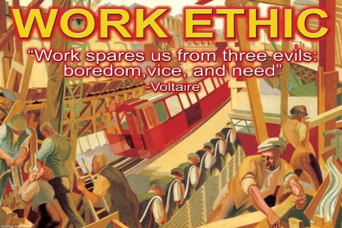 Work Ethic - 12x18 Art Poster by Wilbur Pierce