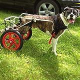 KHUY Sedia a rotelle Animali for Cani di Taglia Grande, Regolabile Dog Pet...