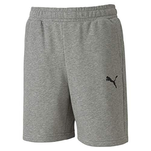 PUMA Jungen teamGOAL 23 Casuals Shorts Jr, Medium Gray Heather, 176