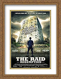 The Raid: Redemption 28x36 Double Matted Large Large Gold Ornate Framed Movie Poster Art Print