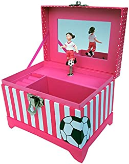 Just Like Me Soccer Player Musical Jewelry Box (Brown...