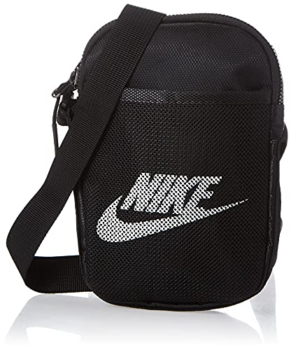 Nike Unisex Heritage Small Items Crossbody-Tasche, Black/Black/White, One Size BA5871, einheitsgröße