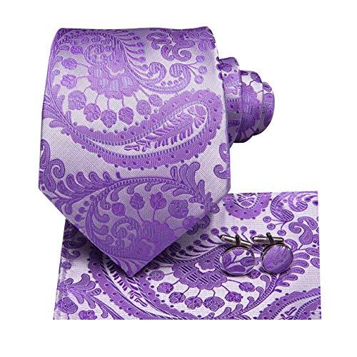 Dubulle Cravat Ascot - Juego de pañuelo y pañuelo de bolsillo cuadrado con gemelos para hombre