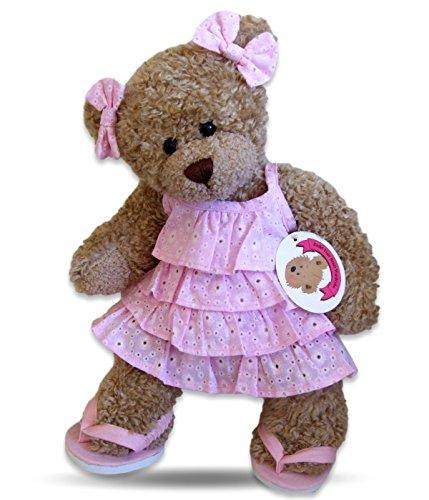 Build Your Bears Wardrobe Teddybär-Kleidung, passend für Build a Bear Teddies, Rüschen, Kleid Schuhe (Pink)