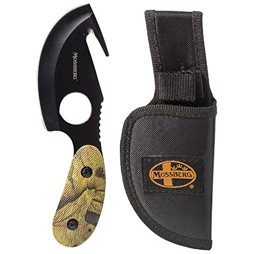 Mossberg Fixed Blade Knife, All in One Skinning Knife with Gut-Hook, for Hunters and Outdoors Enthusiasts