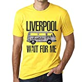 One in the City Hombre Camiseta Vintage T-Shirt Gráfico Liverpool Wait For Me Amarillo