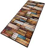Teppich Läufer Flur Teppich küche Teppiche Modern 6mm rutschfest & leicht abwaschbar für Wohnzimmer Flur Büro Schlafzimmer Küche - 40x100cm