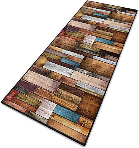 Teppich Läufer Flur Teppich küche Teppiche Modern 6mm rutschfest & leicht abwaschbar für Wohnzimmer Flur Büro...