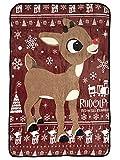 Bioworld Rudolph The Red-Nosed Reindeer Soft Plush Fleece Throw Blanket 45' x 60'