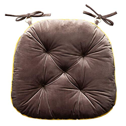 Chair cushion Winter Gold Velvet Chair pad 42x40cm cushions, pillows thickening student chair Cushion Soft cushion dining chair cushion stool office,brown