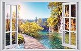 DesFoli See Natur Landschaft 3D Look Wandtattoo 70 x 115 cm