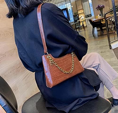 2021 Crocodile Pattern Lady Messenger Bag Lady Chain Handbag Female Travel Handbag Gold Chain Design Shoulder Bag