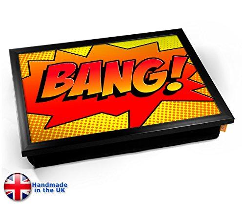 Comic BANG Cushion TV Dinner Lap Tray Kissen Tablett Knietablett Kissentablett - Schwarzer Rahmen