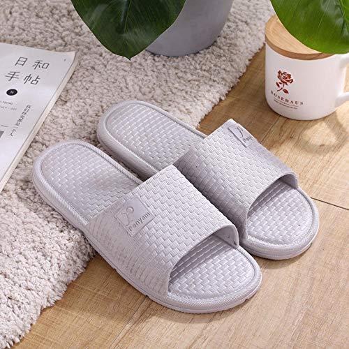 B/H Sandalias de ducha, zapatillas de plástico para el hogar, sandalias elegantes para el cuarto de baño en casa-gris_44-45, sandalias planas