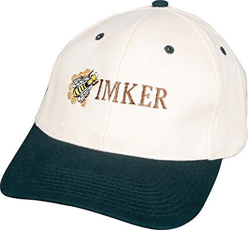 Basecap - Cap mit Imker - Stick - Imker Biene - 69008 weiss mit schwarzen Schirm - Baumwollcap Baseballcap Schirmmütze Hut