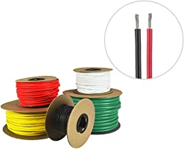 14 AWG Marine Wire -Tinned Copper Primary Boat Cable - Available in Black, Red, Yellow, Green, and White - Made in The USA