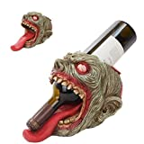 WALKING UNDEAD HORROR ZOMBIE SCALPTED HOLE WINE BOTTLE HOLDER