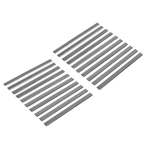 Mogzank 20 Piezas 82Mm Cuchillas Cepilladoras EléCtricas HSS Cuchillos Cepilladores de Madera Reversibles Piezas de Maquinaria de Carpintería para Bosch Makita