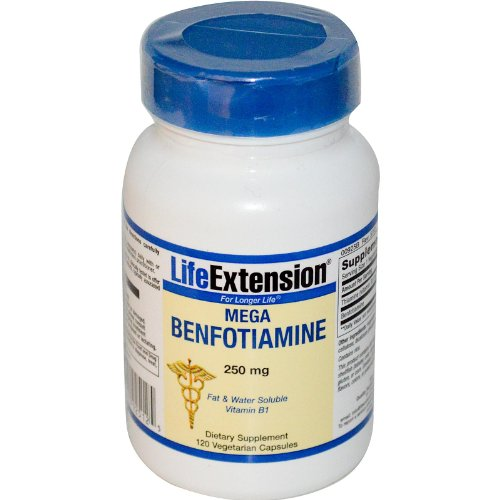 Life Extension - Mega Benfotiamine 250 mg. - 120 Vegetarian Capsules