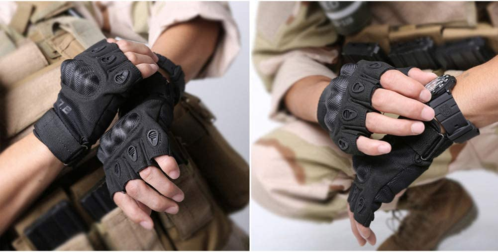 Andyshi Tactical Gloves Army Military Police Rubber Knuckle Protective Outdoor Gloves Climbing Cycling Glove Touchscreen for Men